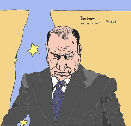 Cartoon: Berlusconi (medium) by Fusca tagged citizenship,scandals,corruption