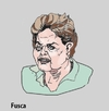 Cartoon: Dilma Rousseff puppet president (small) by Fusca tagged corruption,spring,marches,riots,scandal,politicians,latin,authoritarian,governments