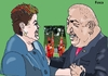 Cartoon: Lula and Dilma- Chavez servants (small) by Fusca tagged corruption,lula,dilma,dictators,populist,tyrants