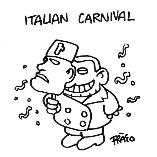 Cartoon: Italian Carnival (medium) by fragocomics tagged berlusconi,italy,bunga,ruby,sexual,scandal,politics,silvio berlusconi,skandal,silvio,berlusconi