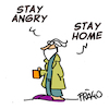 Cartoon: stay angry stay home (small) by fragocomics tagged lockdown coronavirus