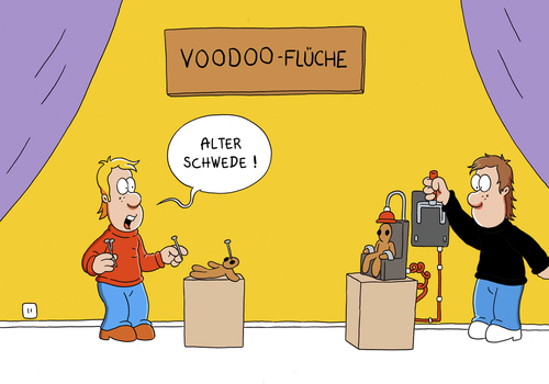 Cartoon: voodoo stuhl (medium) by ChristianP tagged voodoo,electric,chair