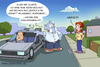 Cartoon: Back to the future (small) by ChristianP tagged back,to,the,future