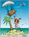 Cartoon: Ohne Worte (small) by rpeter tagged inselwitz,insel,schiffbrüchig,frau,meer,banane