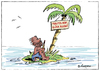 Cartoon: Ohne Worte (small) by rpeter tagged palme,insel,inselwitz,heim,trautes