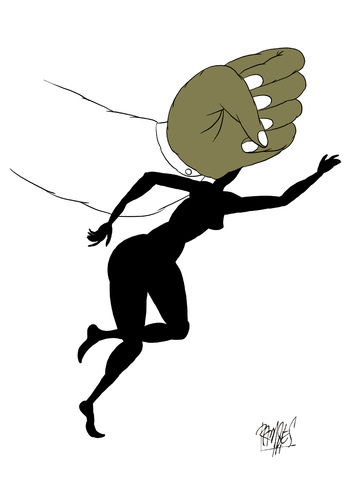 Cartoon: Violence against women! (medium) by Ramses tagged violenceagainstwomen,violence,men,women,freedom
