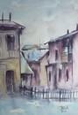 Cartoon: Vatra Dornei city (small) by boa tagged painting,color,oil,boa,romania,painter,landscape