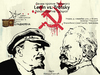 Cartoon: Lenin vs. Trotsky (small) by Zoran Spasojevic tagged zoran,spasojevic