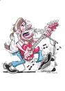 Cartoon: cartoon adam (small) by fieldtoonz tagged rock,guitar,singer,music