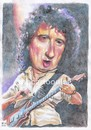 Cartoon: Brian May of Queen (small) by Joen Yunus tagged carricature,colored,pencil,queen,brian,may,rock,guitarist