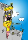 Cartoon: construction accident (small) by Joen Yunus tagged cartoon construction building safety sex erotic