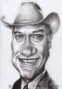 Cartoon: larry hagman (small) by Joen Yunus tagged caricature,charcoal,larry,actor,television