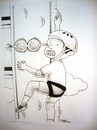 Cartoon: surprised (small) by Joen Yunus tagged cartoon,pen,colored,pencil,climbing,sports