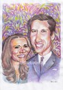 Cartoon: the royal wedding (small) by Joen Yunus tagged carricature,colored,pencil,wedding,william,kate