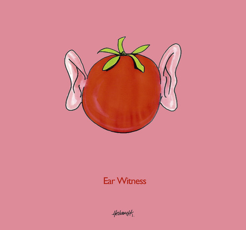 Cartoon: Ear Witness (medium) by helmutk tagged food