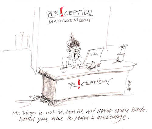 Cartoon: Perception Management (medium) by helmutk tagged business