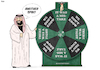 Cartoon: Another Spin (small) by Tjeerd Royaards tagged saudi,arabia,khashoggi,wheel,of,fortune,murder,excuse