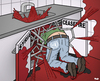 Cartoon: Ceasefire in Syria (small) by Tjeerd Royaards tagged syria,war,blood,un,united,nations,kerry