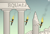 Cartoon: Crumbling Facade (small) by Tjeerd Royaards tagged racism kkk equality unequal inequality race