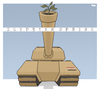 Cartoon: Egyptian Spring (small) by Tjeerd Royaards tagged egypt,army,elections,freedom,democracy