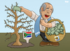 Cartoon: FIFAs harvest (small) by Tjeerd Royaards tagged fifa,blatter,world,cup,football,soccer