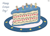 Cartoon: Happy Europe Day (small) by Tjeerd Royaards tagged eu
