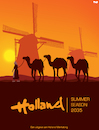 Cartoon: Heatwave in Holland (small) by Tjeerd Royaards tagged weather,hot,climate,netherlands
