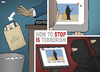 Cartoon: How To Stop IS Terrorism (small) by Tjeerd Royaards tagged is,isis,execution,youtube,cnn,media,ignore