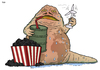 Cartoon: Jabba the Earth (small) by Tjeerd Royaards tagged climate,change,star,wars,global,warming,fossile,fuels,sustainability