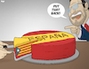Cartoon: Madrid Versus Catalonia (small) by Tjeerd Royaards tagged spain,catalonia,referendum,independence