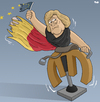 Cartoon: Merkel and the Crisis (small) by Tjeerd Royaards tagged euro,crisis,greece,italy,europe