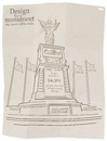 Cartoon: Migrant Monument (small) by Tjeerd Royaards tagged migration,refugees,mediterranean,sea,droning,victims,europe,eu