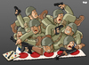Cartoon: New strategy in Afghanistan (small) by Tjeerd Royaards tagged afghanistan,taliban,war,nato,usa,army,troops,strategy,twister