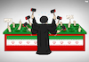 Cartoon: Oppression is Hard Work (small) by Tjeerd Royaards tagged iran,protests,unrest,khomeini,victims,freedom,violence