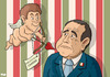 Cartoon: The end for Berlusconi (small) by Tjeerd Royaards tagged berlusconi italy government sex minors sexual silvio