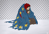 Cartoon: Winter in Europe (small) by Tjeerd Royaards tagged cold,refugees,eu,flag,blanket,freezing,snow,crisis