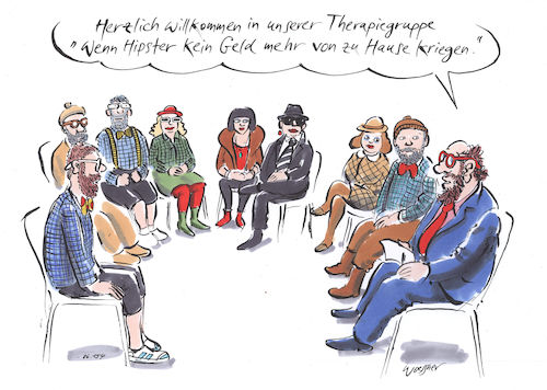 Hipster Therapiegruppe