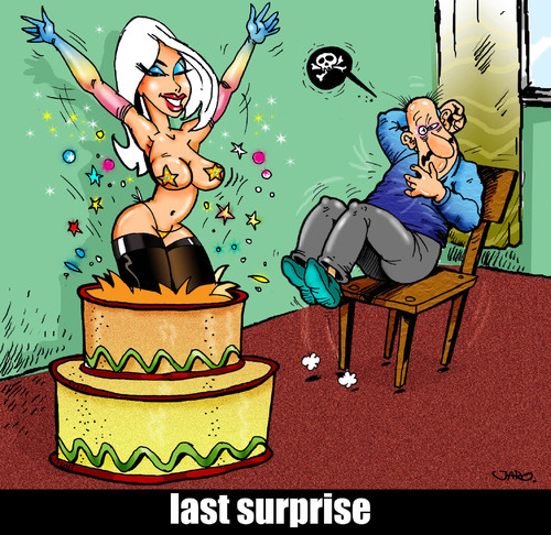 Striptease Messer werfen Cartoons
