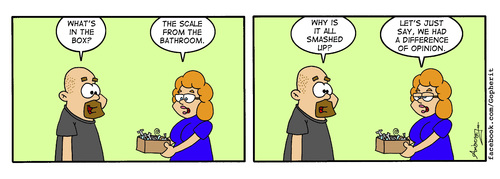 Cartoon: Scale (medium) by Gopher-It Comics tagged gopherit,ambrose,hitched,married,couples,football