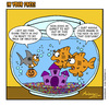 Cartoon: Fish Bowl (small) by Gopher-It Comics tagged gopherit ambrose goldfish halloween