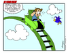 Cartoon: Roller Coaster (small) by Gopher-It Comics tagged gopherit ambrose rollercoaster