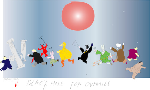 Cartoon: Black hole (medium) by gungor tagged univers,univers