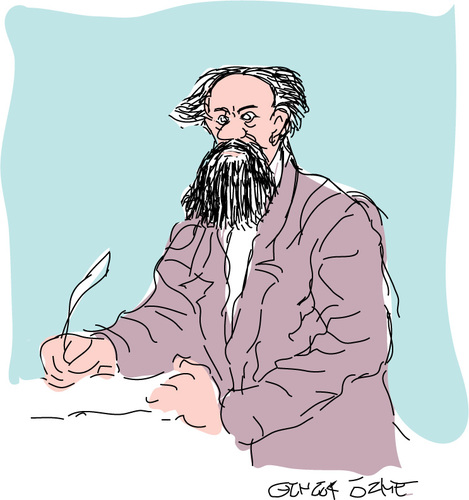 Cartoon: Charles Dickens (medium) by gungor tagged literature