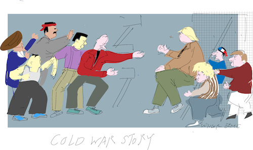 Cartoon: Cold War Story (medium) by gungor tagged world,world