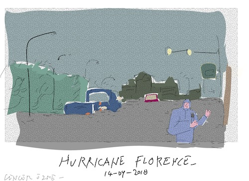 Cartoon: Hurricane Florence (medium) by gungor tagged usa,usa,hurricane,florence
