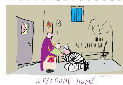 Cartoon: Welcome Home (medium) by gungor tagged vatican,vatican