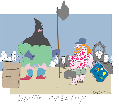 Cartoon: Wrong Direction (medium) by gungor tagged life,life