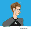 Cartoon: Andy Murray (small) by gungor tagged britain