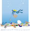 Cartoon: Bottom of the Ocean (small) by gungor tagged world