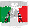 Cartoon: Closing Door (small) by gungor tagged italy